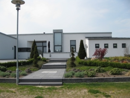 Moderne hus med blik inddækning